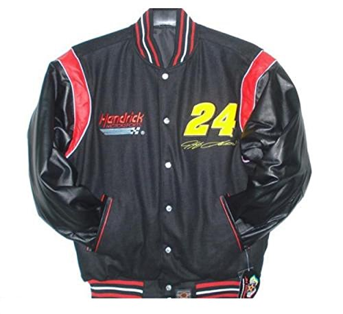 Jeff Gordon Wool & Leather Sleeves Reversible Jacket Size Large