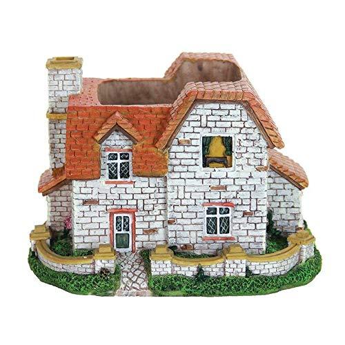 GARDENSHOW Mini Fairy Garden Planter - Miniature Dollhouse Fairy Garden Cottage Planter