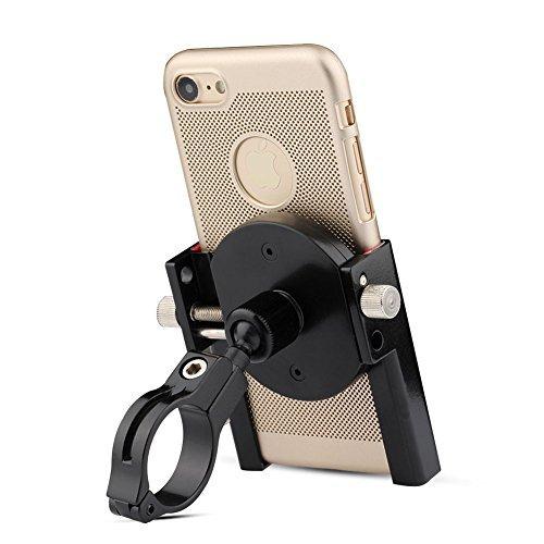Bili-fox Bike Phone Mount Metal Adjustable 360 Degree Bicycle & Motorcycle Phone Holder for phone/iPhone(Black)