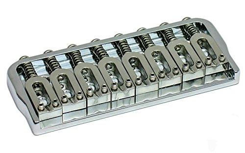 Hipshot USA 8-string Fixed/Hardtail Guitar Bridge, Chrome