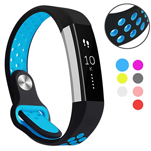 Hanlesi Fitbit Alta HR Band, Fitbit Alta Band Breathable Soft Silicone Adjustable Fashion Sport Strap Band for Fitbit Alta 2 Replacement Fitness Accessory Wristband with hole