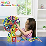 Mibote 102 PCS Magnetic Building Blocks Educational Toys Magnet Tiles Set Stacking Blocks for Toddler Kids