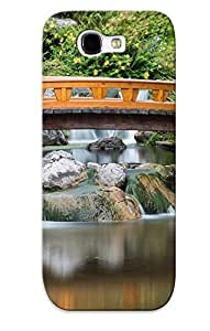 Design For Case HTC One M8 Cover Premium PC Japanese Garden Asian Garden Lake Reflection River Pool Mood Bridge Protective Case