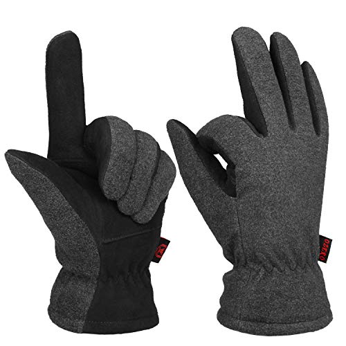 OZERO Mens & Womens Winter Gloves Thermal Protection Extreme Cold Resistance -10℉