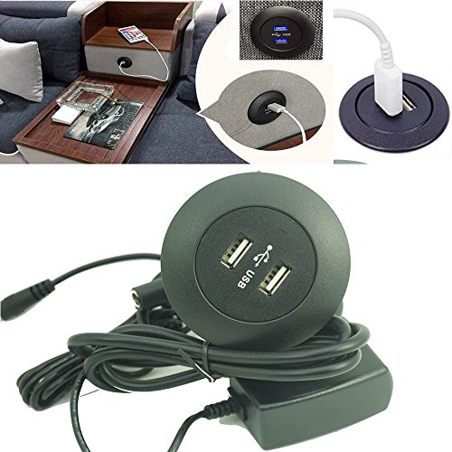 110V / 240V Power Socket DUAL USB Phone Charging Ports - For Ease Power Recliner Chair Electric Sofa Okin Limoss Lift Chair charger/Power Recliner Gaming Chair / Seat Furniture flush mount