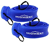 fishing rod socks - Spinning Fishing Rod Sleeve Rod Sock Cover 2 Pack By Midwest Outfitters (Blue)