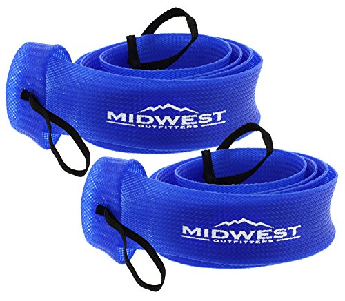 Cover Fishing (Spinning Fishing Rod Sleeve Rod Sock Cover 2 Pack By Midwest Outfitters (Blue))