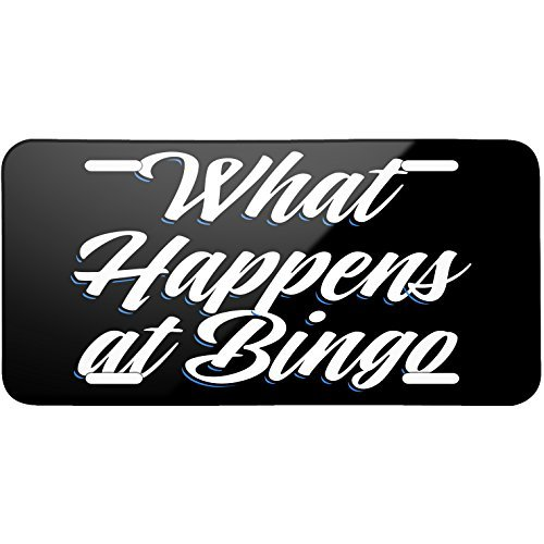 Classic design What Happens at Bingo Metal License Plate 6X12 Inch