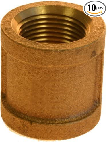 10-Pack Plumbers Choice 90001 1//8-Inch Brass Coupling