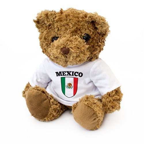 NEW - Mexico Flag Teddy Bear - Cute And Cuddly - Mexican Fan Gift (Mexican Bear)