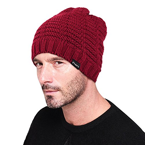Vbiger Winter Warm Soft Stretch Slouchy Knitted Beanie Cap (Red)