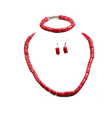 Charming Natural 7mm Pink Coral Necklace and Bracelet Jewellery Set - Presented in A Beautiful Jewellery Gift Box oO44E2