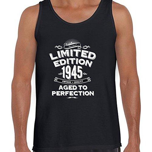 sleeveless 1945 Limited Edition 71st Birthday Mens tank tops XXL Black- ()