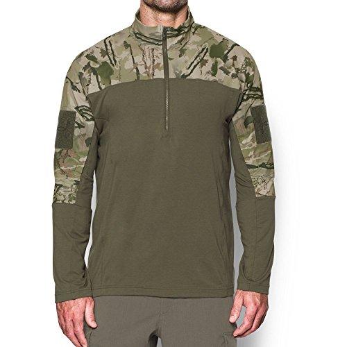 Under Armour Men's Tactical Combat Shirt, Ridge Reaper Camo Ba/Marine Od Green, Large