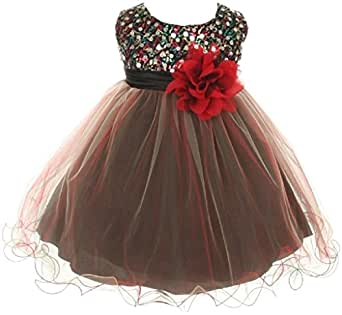 Amazon Baby Girls Toddler Multi Sequins Tulle Special