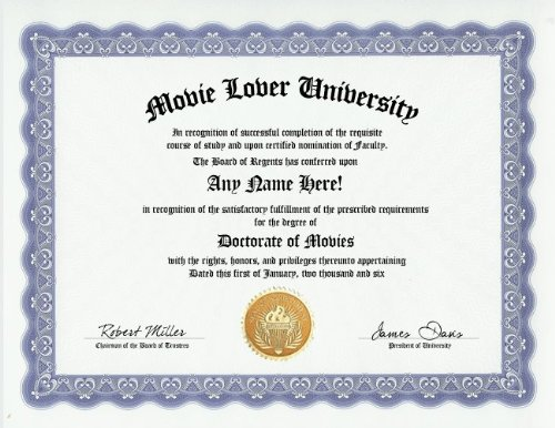 Movie Lovers Degree