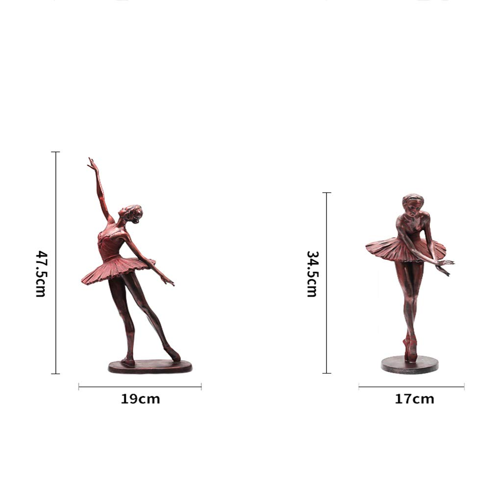 Ballerina Sculpture, Decoration Home Living Room Retro Character Resin European Crafts Home (Color : One Set (6)) by None (Image #3)