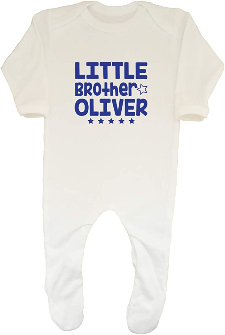 Shopagift Personalised Any Name Train Baby Sleepsuit Romper