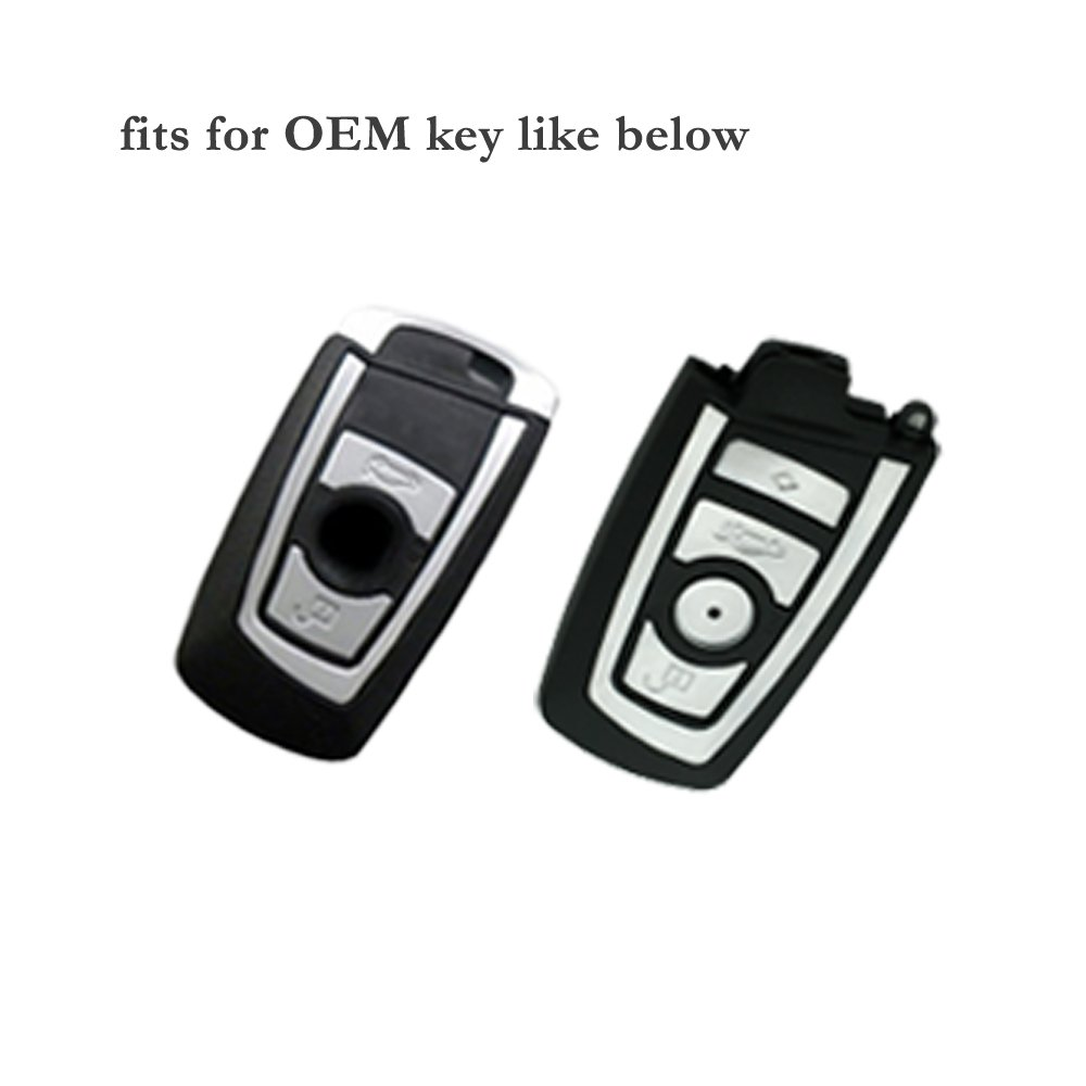SEGADEN Silicone Cover Protector Case Skin Jacket fit for BMW Smart Remote Key Fob CV9903 Light Green
