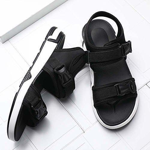 Sandalen Fashion Sandalen Schwarz Bottom Breathable Hausschuhe Strand Schuhe Sandalen Dick Sport ZHANGM Casual Outdoor Student Herren und an67EOw