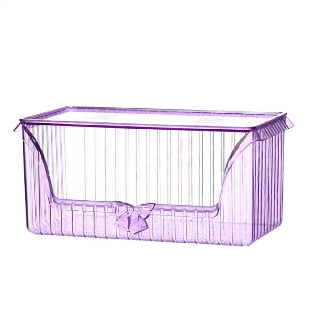 BWAM Vintage Bow-Knot Cosmetic Organiser Makeup Display Storage Stand Holder Box Jewelry Perfumes Lipsticks Divider Container Large Capacity for Dresser Bedroom Bathroom (Color : Purple)