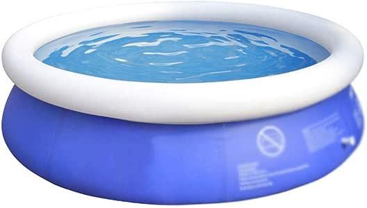 Piscina hinchable rectangular redonda,Seguridad y protección del medio ambiente piscina al aire libre, piscina de remo redonda gruesa y duradera-180 * 73 cm,piscina infantil hinchable grande: Amazon.es: Hogar