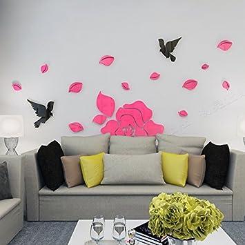 Qioungary Acryl 3D Wall Sticker, Wohnzimmer, Schlafzimmer, Esszimmer ...