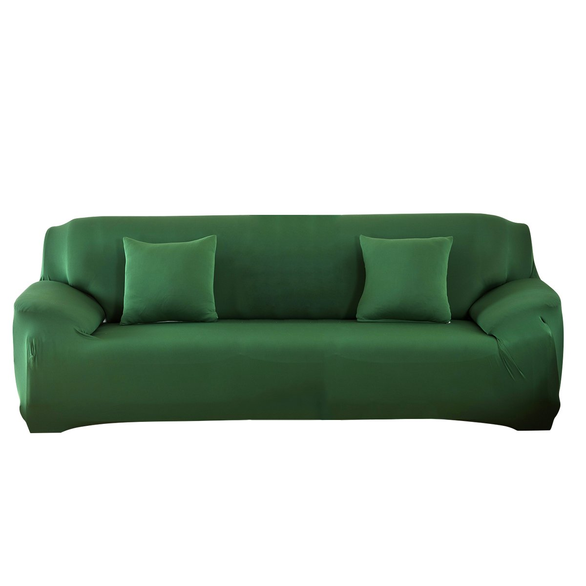 MIFXIN Sofa Cover Couch Cover Slipcover Sofa 3 Seater Furniture Protector Polyester Spandex Fabric Armchair Slipcover a Pillow Cover Children Pets (3 Seater Sofa, Dark Green)
