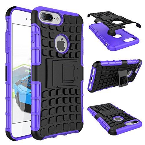 Suntechor Armor Case for Apple iPhone 7 Plus Heavy Duty Hybrid Protective Case Shockproof Hard Cover (Purple)