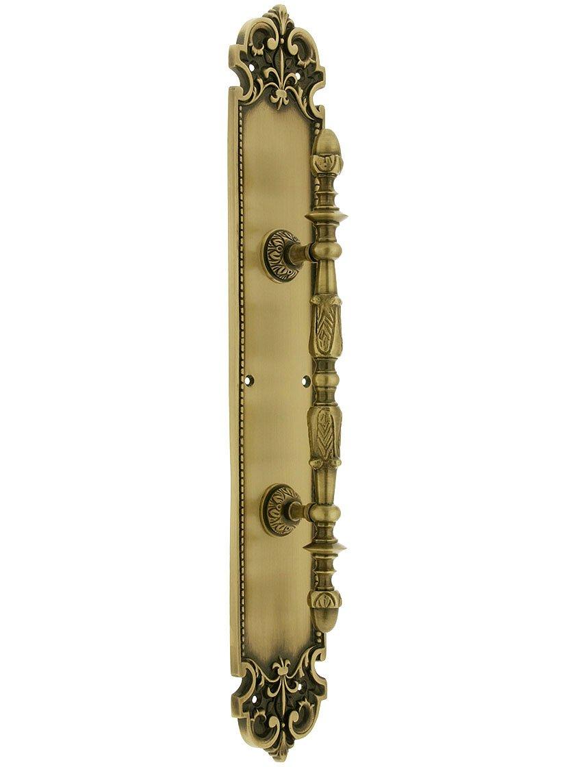 BRASS Accents A04-P3241-605 Fleur De Lis Pull Plate 2-7//8 x 12-3//4 Polished Brass