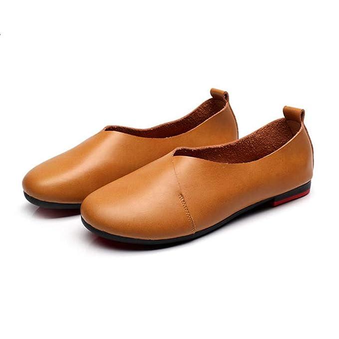 Zapatos Planos Zapatos De Trabajo Para Mujer Zapatos De Guisantes Mocasines De Oficina Zapatos Perezosos Cómodos Calzado De Conducción: Amazon.es: Ropa y ...
