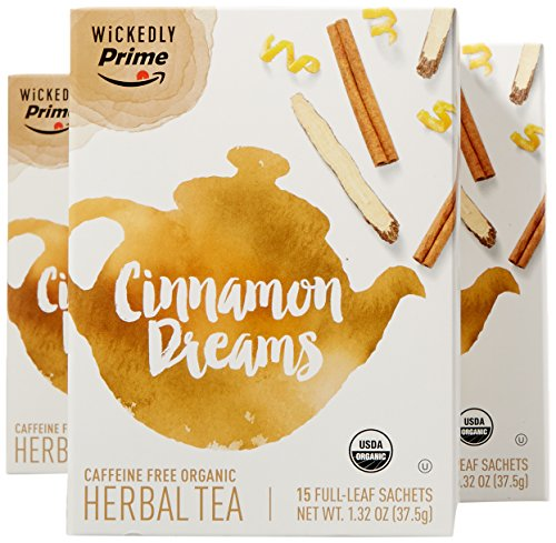 Wickedly Prime Organic Rooibos Tea, Cinnamon Dreams, 15 Count (Pack of 3)