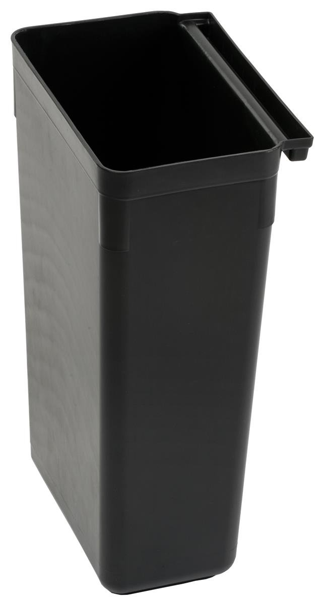 Black Aluminum /& Plastic - Large 2 Side Handles and Swiveling Wheels Displays2go 3-Tiered Bus Cart with 2 Rubbish Bin Attachments