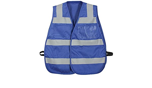 Amazon.com  Safety Blue Hi-Visibility Police Security Tactical Ems Emt Safety  Vests  Clothing 61cda4ef1d1