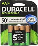 Duracell  Rechargeable AA Batteries, 4 Count