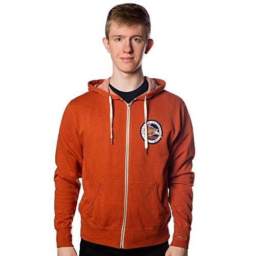 Price comparison product image Echo Fox Men's Seal Zip-Up Hoodie (Burnt Orange Heather,  Large)