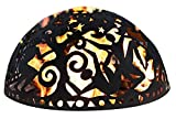 "26″ Handcrafted Cut Steel ""Night Sky"" Decorative Fire Dome For Sale"