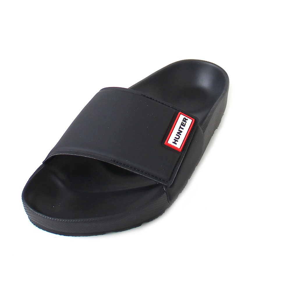 Hunter Original Adjustable Slide Men  Badeschlappen Schwarz (Black)