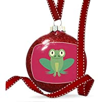 Cheyan Cute Animals Kids Frog Christmas Ornaments Glass Christmas Tree Decorations Baubles Novelty, Keepsake, Couples Gifts