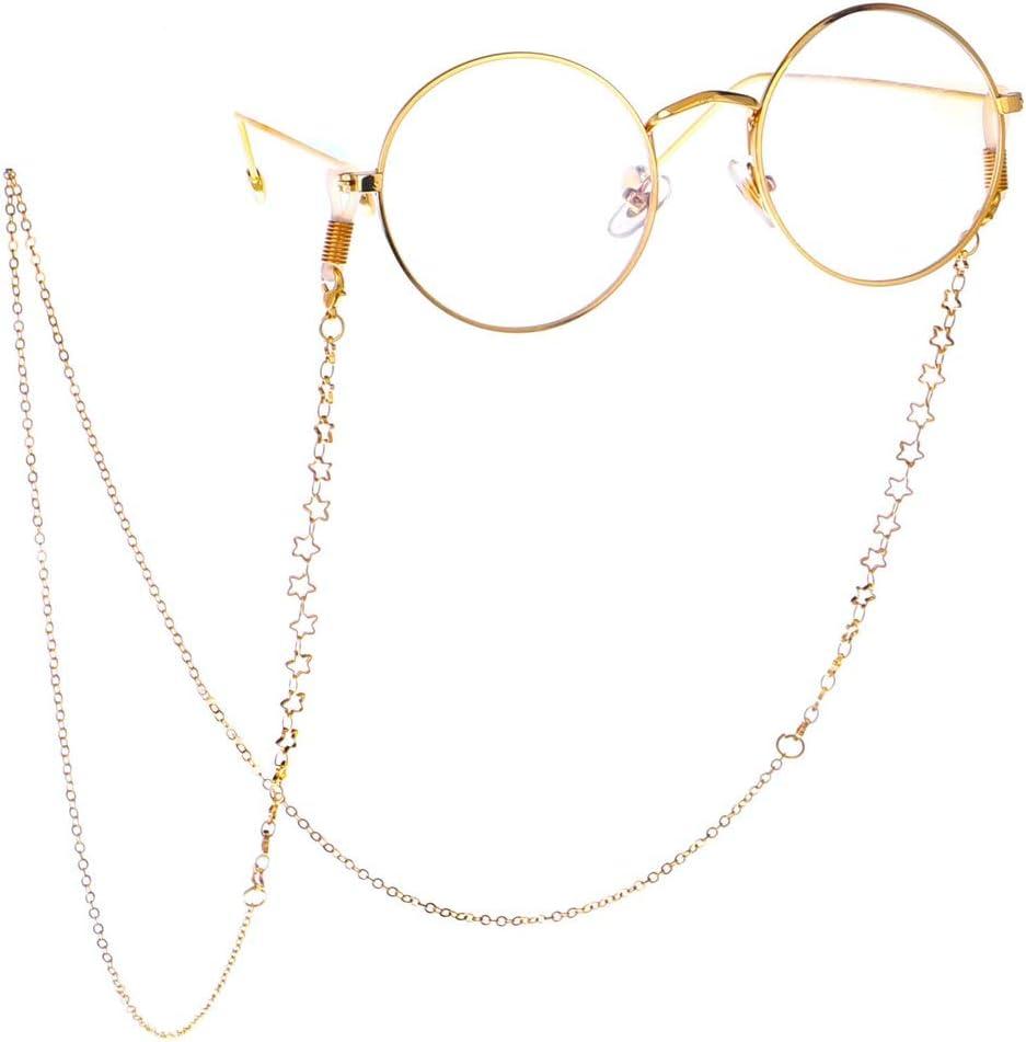 Occhiali da vista Catena per occhiali Cinturino in corda Strass perline multicolore Cordino per collo Occhiali da sole antiscivolo String Occhiali decorativi Collana Porta occhiali Cinturino