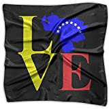 Love Venezuela Map Men Women Silky Scarf Handkerchief Bandana Scarves Set