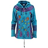 GreaterGood Peaceful Garden Hooded Jacket (L/XL, Turquoise)