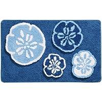 InterDesign Sand Dollar 34-Inch 21-Inch Rug, Blue