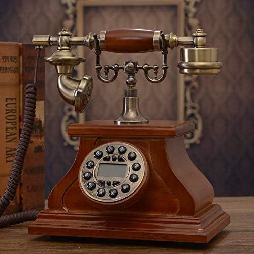 BZM-ZM ホームデコレーション-Aのためのヴィンテージクリエイティブ電話ホームレトロな固定電話の発信者IDセット