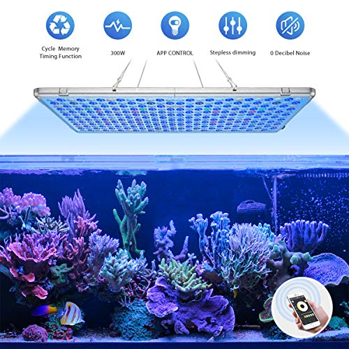 Bozily Aquarium Light, APP Control Aquarium LED Light with Automatic