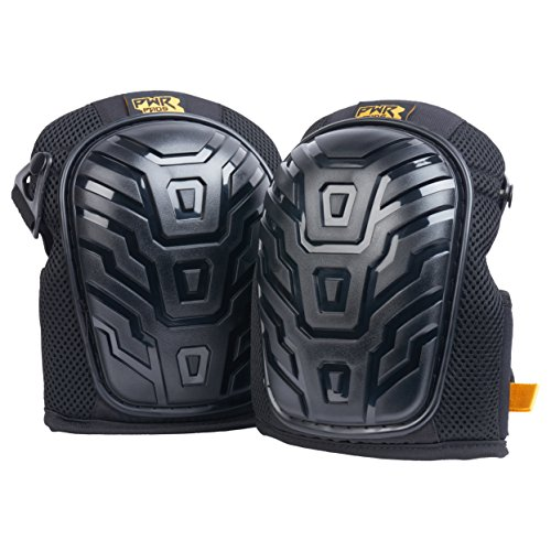 PWR PADS Professional Knee Pads with Gel Foam and Enhanced Support Straps for Construction, Gardening, Flooring Premium Heavy Duty Material for Upgraded Longevity and Comfort