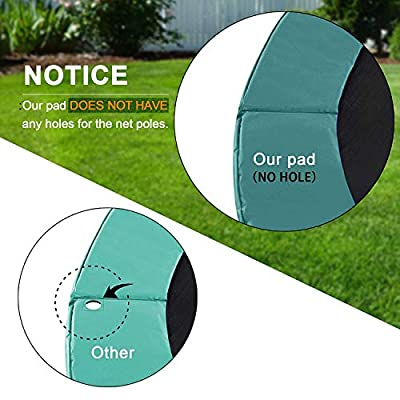 Exacme Trampoline Pad Replacement Spring Cover 10 12 13 14 15 Foot Safety Round Frame Pad, Without Pole Holes, Blue or Green : Sports & Outdoors