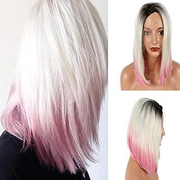 Amazon Com Sylvia 14 Ombre Platinum Blonde To Pink 3tones