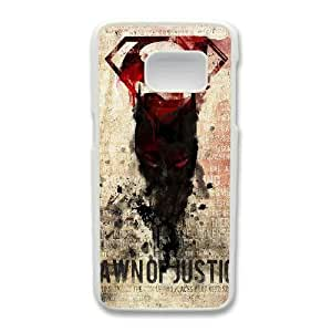 Wunatin Hard Case ,Samsung Galaxy S7 Cell Phone Case White Batman Vs Superman Dawn of Justice Logo [with Free Tempered Glass Screen Protector]5691265300933