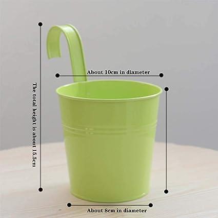 Amazon com: ZHIPENG Iron Sheet Flower Pot Creative Home
